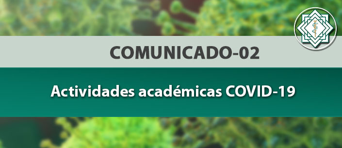 Comunicado actividades académicas COVID-19